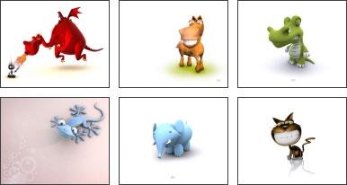 Screensaver Animali 3D